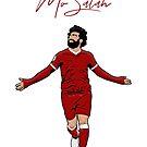 «Mo Salah - Rey egipcio - Impresión, Cartel, Camiseta, Samsung, Funda de iPhone, Reloj» de Conor Crosbie