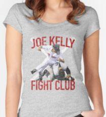 Vintage Joe Kelly Fight Boston Baseball Club T-Shirt Women's Fitted Scoop T-Shirt