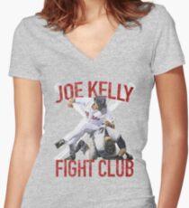 Vintage Joe Kelly Fight Boston Baseball Club T-Shirt Women's Fitted V-Neck T-Shirt