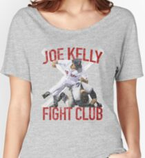Vintages Joe Kelly-Kampf-Boston-Baseball-Verein-T-Shirt Baggyfit T-Shirt