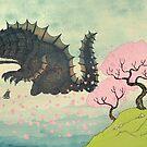 Cherry Blossom & Sea Monster by djrbennett