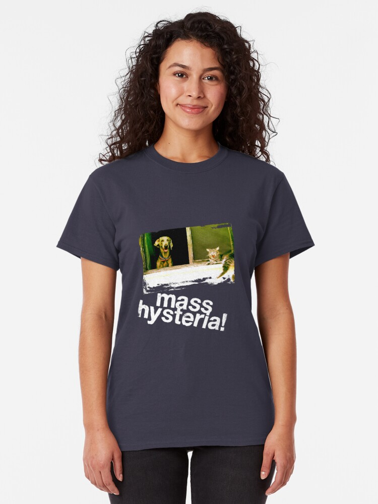Alternate view of Dogs and cats living together. Mass hysteria! Classic T-Shirt