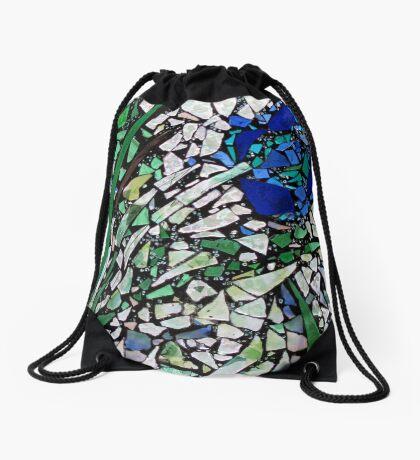 Blue Rose Drawstring Bag
