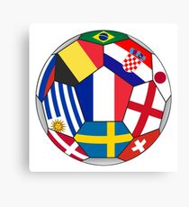 Russia 2018 - football ball with various flags Canvas Print