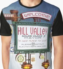 Welcome to Hill Valley - Sky Way Billboard Graphic T-Shirt