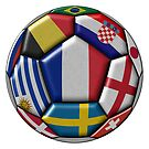 Football ball with various flags - semifinal and final - world champion by siloto