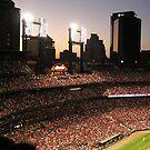 Busch Stadium under lights by Jamaboop