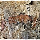 Cave painting in prehistoric style by siloto
