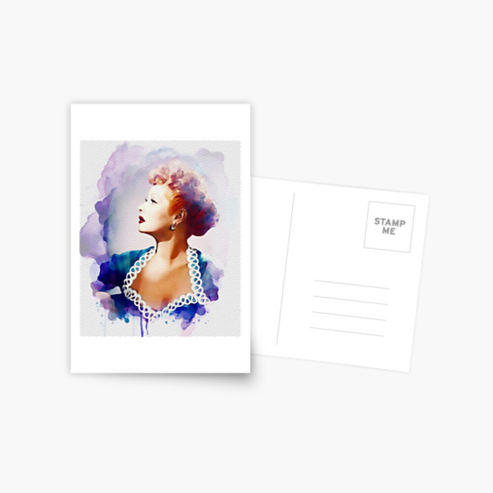Lucille Ball, Vintage Hollywood-Legende Postkarte
