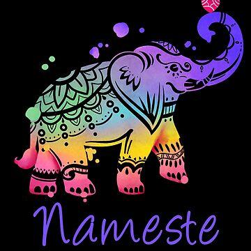 Yoga Pose Om Chakras Mindfulness Meditation Zen by linco11