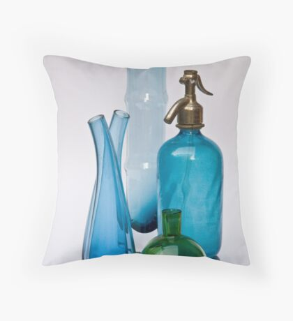 Still Life With Coloured Glass Throw Pillow