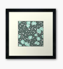 Blue Flower Vista Corduroy Framed Print