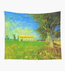 Farmhouse in a Wheat Field van Gogh 1888, Fine Art, Wall Tapestry