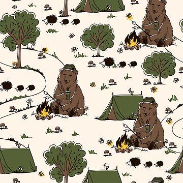 Camping Bear by InnaQueen