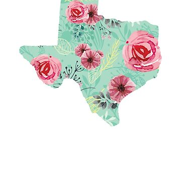 Floral Texas T-Shirt by tracemb