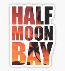 HALF MOON BAY Beach Palm Tree Sticker