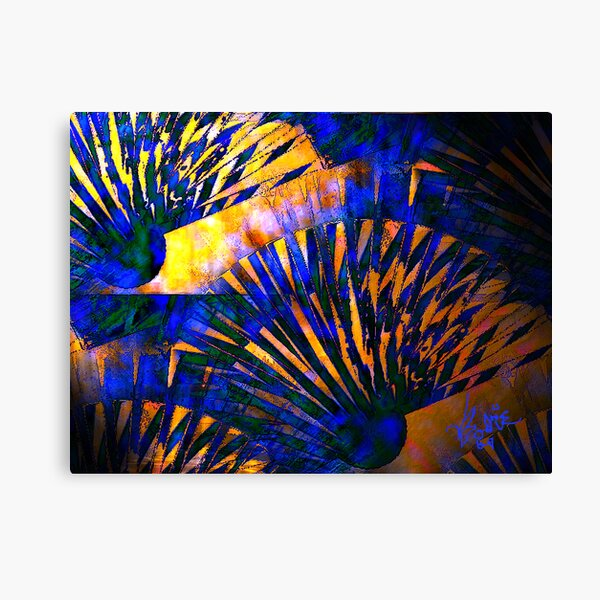 Fans of Blue and Copper Canvas Print