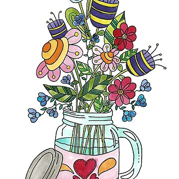 Bouquet in jar by Azyrielle