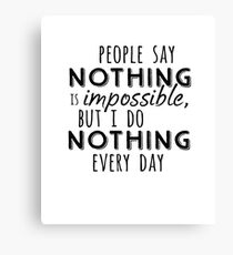 Winnie the Pooh: I Do Nothing Every Day Canvas Print