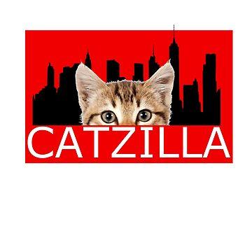 Catzilla by skelingtondino