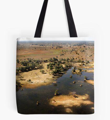 Bird's eye view of the Okavango Delta, Botswana Tote Bag