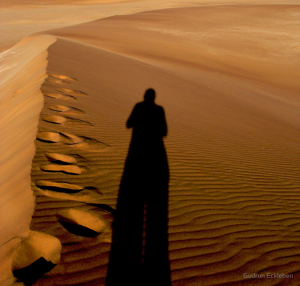 Stepping over the own shadow by Gudrun Eckleben
