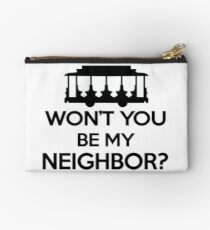 Won't you be my Neighbor? - Trolley logo Studio Pouch