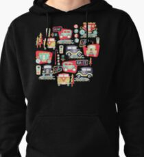 Travel Back in Time - Sky Blue Pullover Hoodie