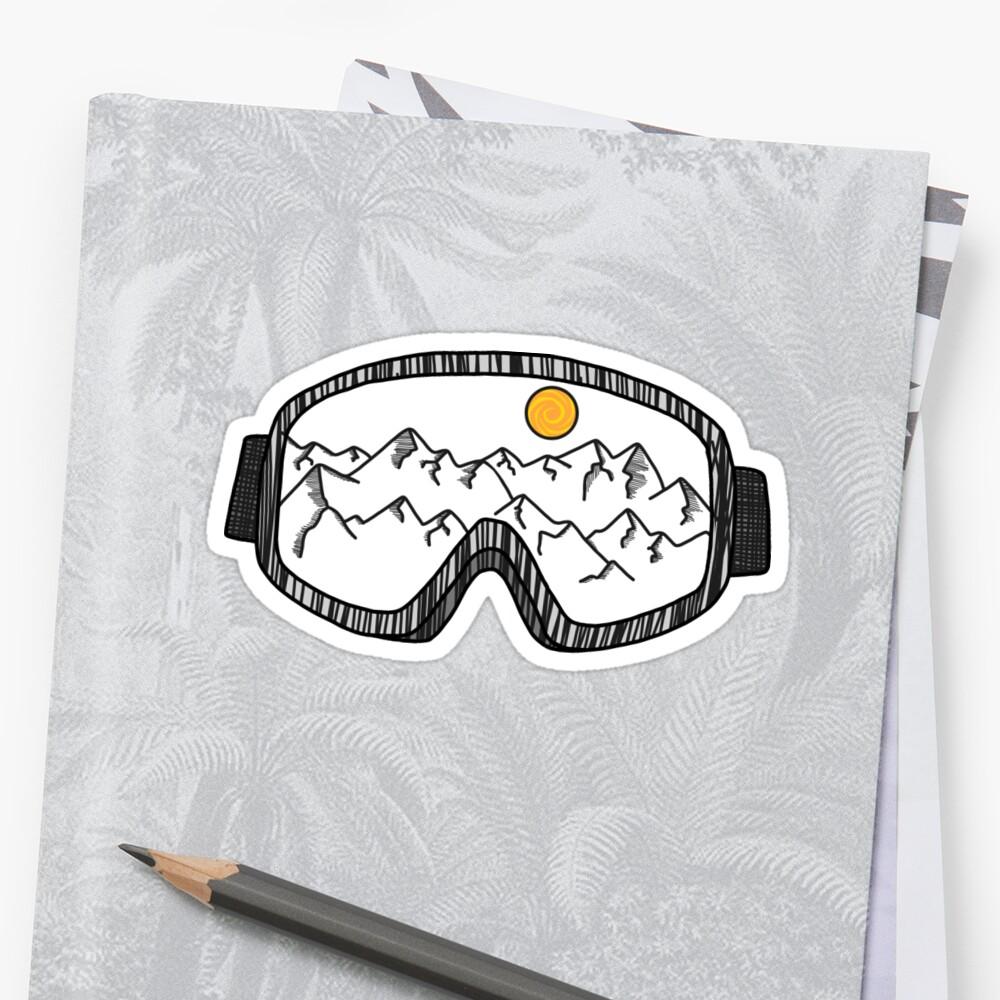 Gafas de esquí Pegatina