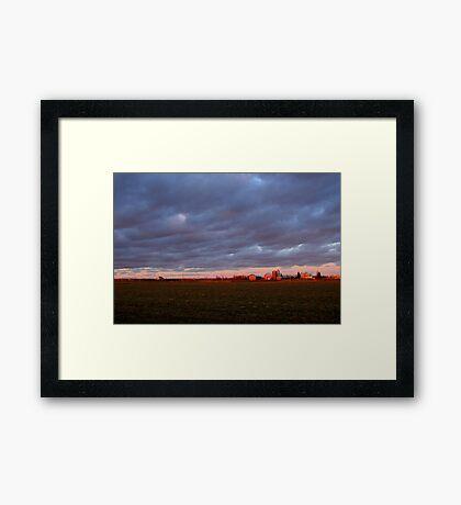 Little Red Farm Framed Print