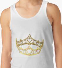 Queen of Hearts gold crown tiara by Kristie Hubler Tank Top