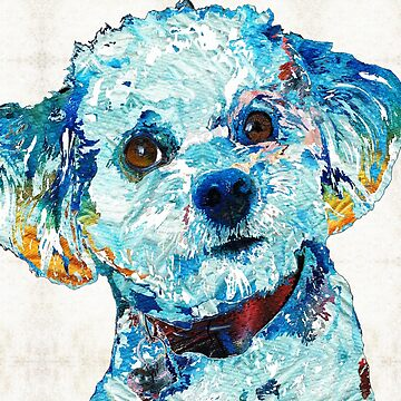 Small Dog Art - Who Me? - Sharon Cummings Artist by SharonCummings