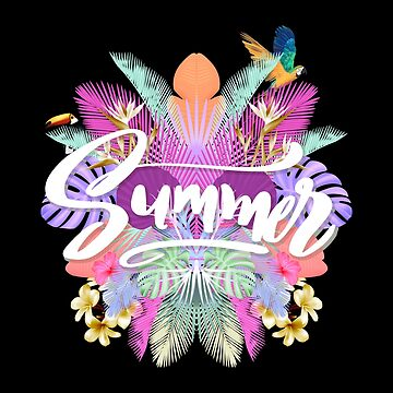 Tropical Summer Feathers, Flowers & Birds by IndigoDreamer