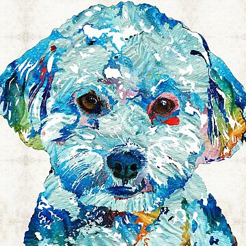 Small Dog Art - Soft Love - Sharon Cummings Artist by SharonCummings