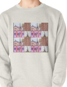 Paris Inspired Pointillism Grapes Wine Wood by Kristie Hubler Pullover