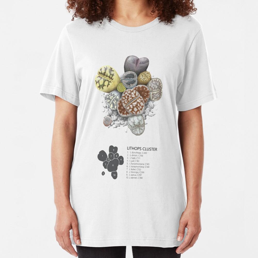Lithops Cluster (Labels) Slim Fit T-Shirt