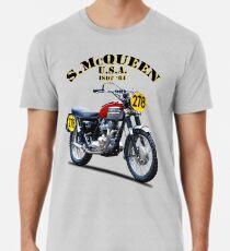 Das Steve McQueen ISDT Motorrad 1964 Männer Premium T-Shirts