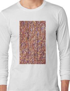Wood Planks Pointillism by Kristie Hubler Long Sleeve T-Shirt