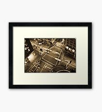 City intersection Framed Print