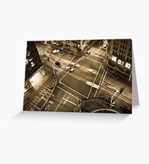 City intersection Greeting Card