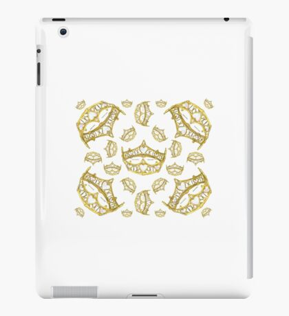 Queen of Hearts gold crown tiara tossed about by Kristie Hubler iPad Case/Skin