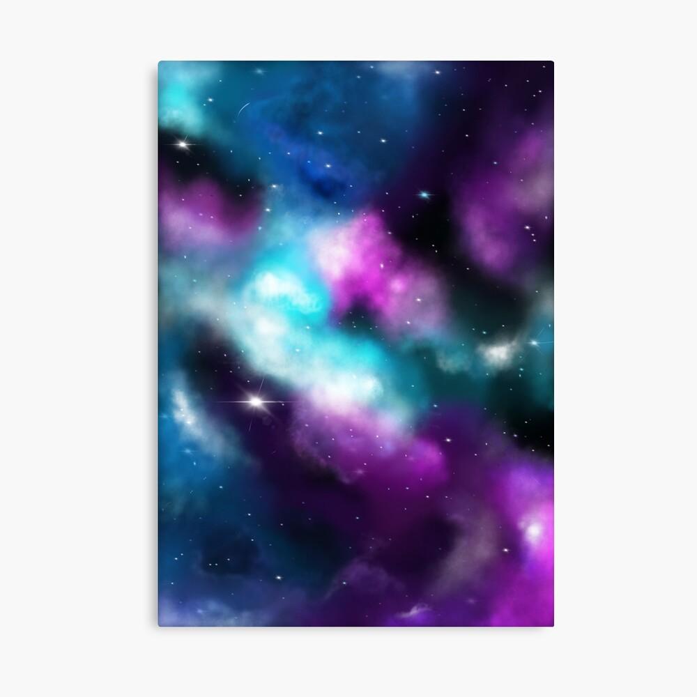 Galaxie, Träume in Türkis und Violett Leinwanddruck