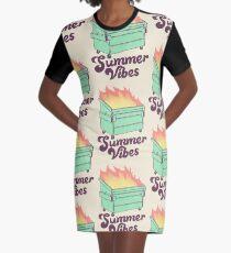 Summer Vibes Graphic T-Shirt Dress