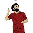 «Mo Salah - LFC / Liverpool FC Design - Egipto - Rey egipcio» de Conor Crosbie