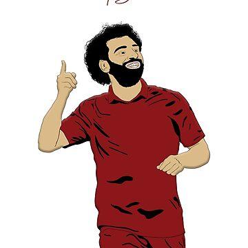 Mo Salah - LFC / Liverpool FC Design - Egipto - Rey egipcio de ConArtistLFC