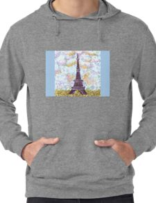 Eiffel Tower Pointillism by Kristie Hubler Lightweight Hoodie