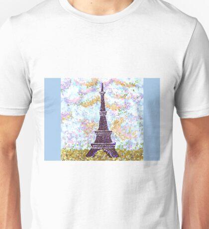 Eiffel Tower Pointillism by Kristie Hubler Unisex T-Shirt