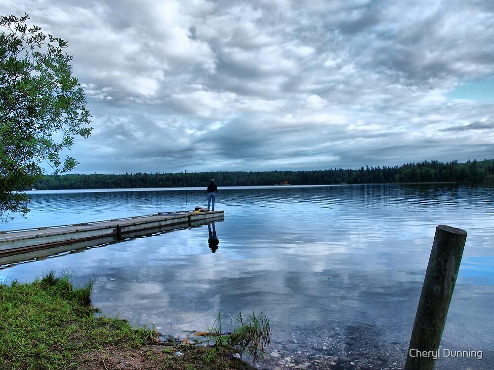 fishing at night by Cheryl Dunning