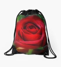 Single Rose Drawstring Bag