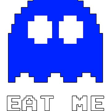 Eat Me Funny Retro Ghost  by MapleWarrior